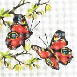 Gobelin 15x15 cm 729 Pillangók