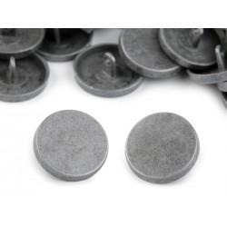 Gomb 2 cm fém antikolt
