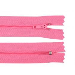 Cipzár 25 cm műanyag rózsaszín