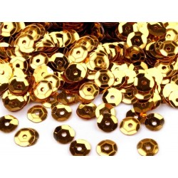 Flitter 6 mm aranyszínű 5 g