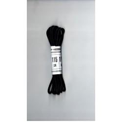 Cipőfűző gömbölyű 115 cm fekete