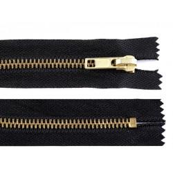 Cipzár 20 cm fém fekete VT10