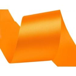 Szatén szalag 4 cm narancssárga