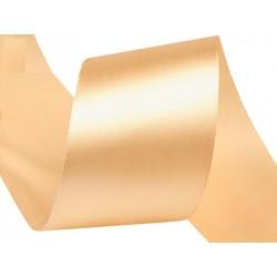 Szatén szalag 4 cm halvány aranyszín