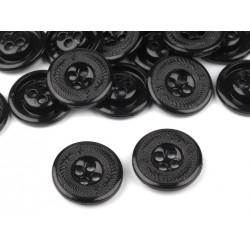 Gomb 1,7 cm fém fekete