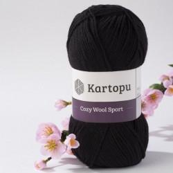 Cozy Wool Sport fekete 100 g