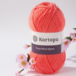 Cozy Wool Sport korall 100 g
