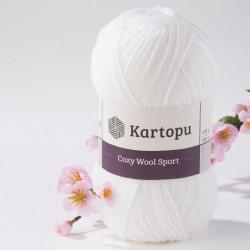 Cozy Wool Sport fehér 100 g