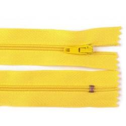 Cipzár 16 cm műanyag sárga