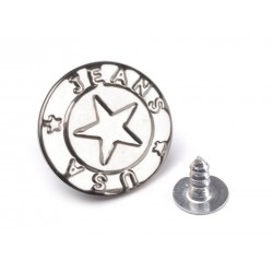 Farmergomb beütős 1,7 cm ezüstszínű Csillag