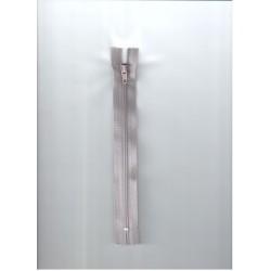 Cipzár 18 cm műanyag halványlila