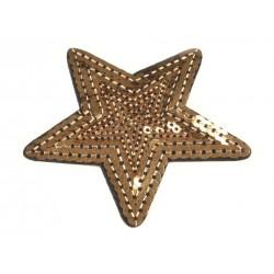 Vasalható folt aranyszínű flitteres csillag